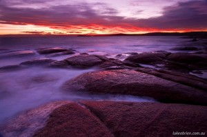 Sunset photography tuition Coles Bay Tasmania