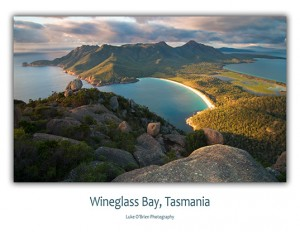 Freycinet Wineglass Bay Postcard