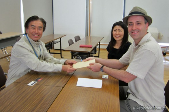 Donation to Fukushima Kids Organisation in Fukushima, Japan