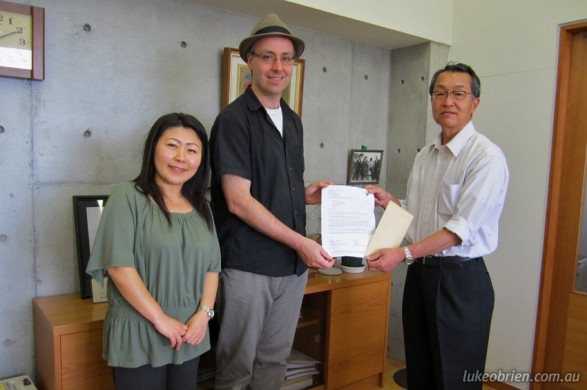 Donation to Living Dreams Organisation in Fukushima, Japan