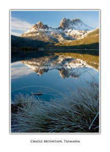 Tasmanian Greeting Cards - Cradle Mountain (frost)