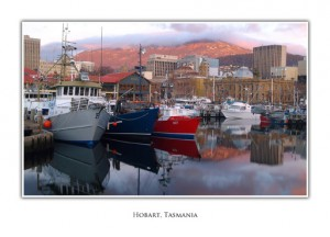 Tasmanian Greeting Cards - Hobart Waterfront