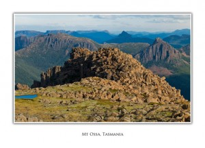 Tasmanian Greeting Cards - Mt Ossa