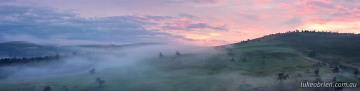 Images of Tasmania: Mist & Sunrise, Hamilton