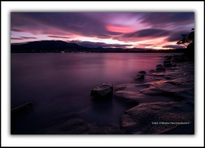 sunset hobart bellerive