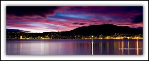 P5: Sunset over Hobart