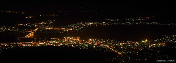 Hobart Night View from Mt Wellington