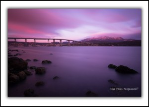 Tasman Bridge & Mt Wellington Snow, Sunrise