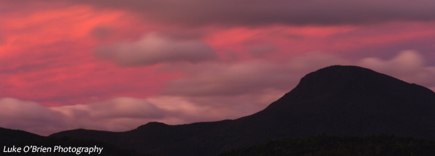 Pink Sky behind Mt Wedge