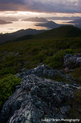 Lake Pedder, from Schnells Ridge.