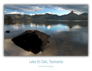 Tasmania photo postcards - Lake St Clair