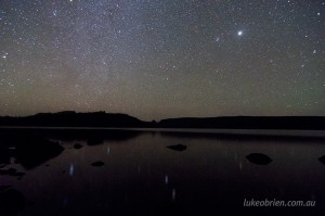 Night sky at Lake St Clair Tasmania