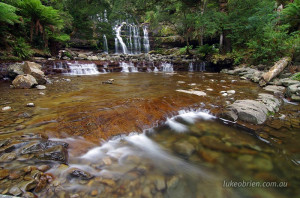 Liffey Falls before the flood