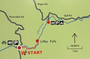 Liffey Falls Tasmania - Map