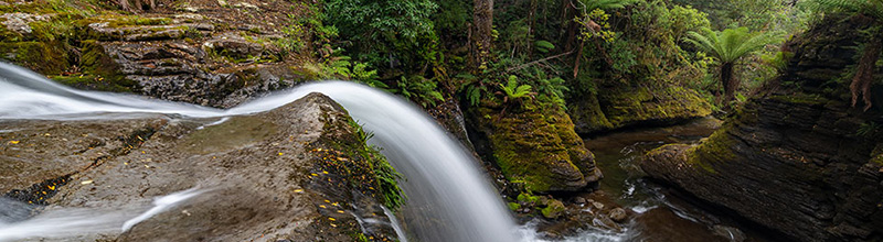 Liffey Falls Tasmania - the spout