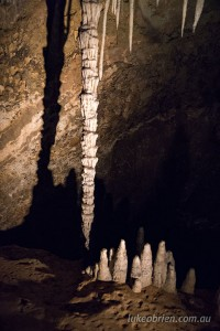 Stalagtites and Stalagmites in the Mole Creek Caves