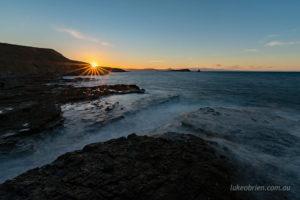 sunset fossil cliffs maria island