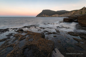fossil cliffs maria island at dusk
