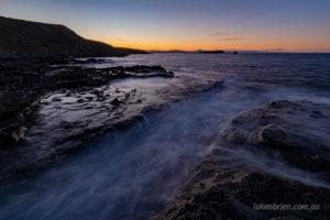 dusk fossil cliffs maria island