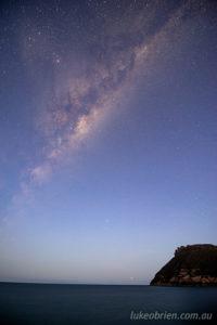 Blue Hour Milky Way, with Bishop and Clerk