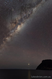 Dark Sky Milky Way, with Bishop and Clerk and some very faint airglow