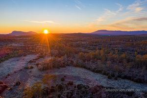 Sunrise over the Middlesex Plains, Tasmania