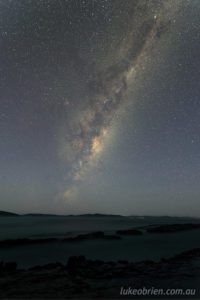 astro photography tasmania milky way pentax astrotracer