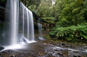 Russell Falls at Mt Field, Winter in Tasmania