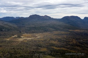 The Pelion Plains and Mt Ossa from Mt Oakleigh