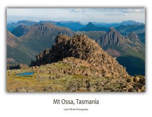 Postcards Tasmania: Mt Ossa