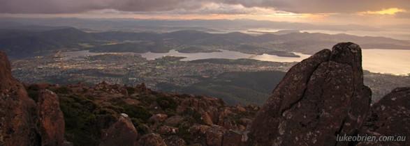 Mt Wellington, Sunrise from the Pinnacle