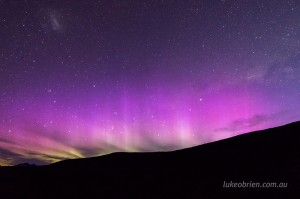 Aurora Australis on the Overland Track, captured in November 2015