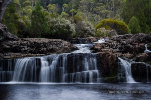 Cradle Mountain Waterfall Pencil Pine Creek
