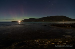Photographing the Southern Lights, Eaglehawk Neck, Tasmania