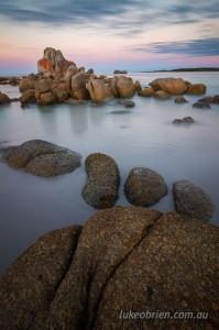 Dusk scene, Picnic Rocks Tasmania