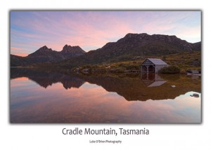 Postcard Cradle Mountain Boatshed Tasmania