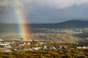 Rainbow near the Vale of Belvoir lookout