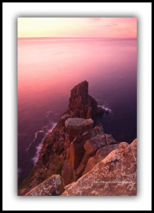 Pink dawn, Cape Raoul