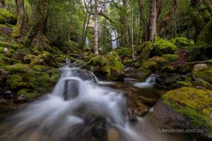 The creek below Rinadena Falls