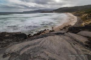 South Cape Bay. View to Lion Rock.