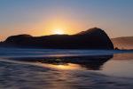 Moonset at Lion Rock on Tasmania's South Coast