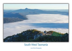 Postcard Tasmania South West Camping