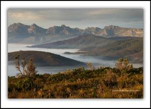 Tasmanian photography - View to the Western Arthur Range