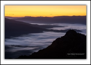 L 118: Pre Dawn Mists from the Needles SW Tasmania