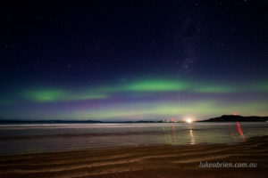southern lights seven mile beach tasmania