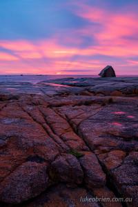 sunrise bicheno blowhole tasmania