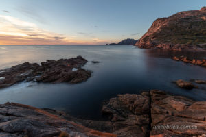 Sunrise on the Hazards at Sleepy Bay Tasmania