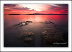 "Sunset photo ""Scarlet"" Red Ochre Beach Tasmania"