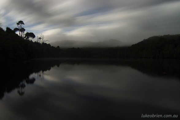 Pieman River at Corinna, Night Scene