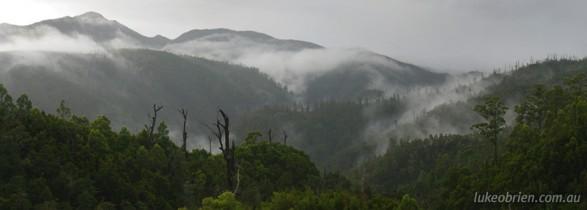 Tasmania's Tarkine: A mist-shrouded Meredith Range